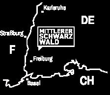 Lage des Mittleren Schwarzwaldes